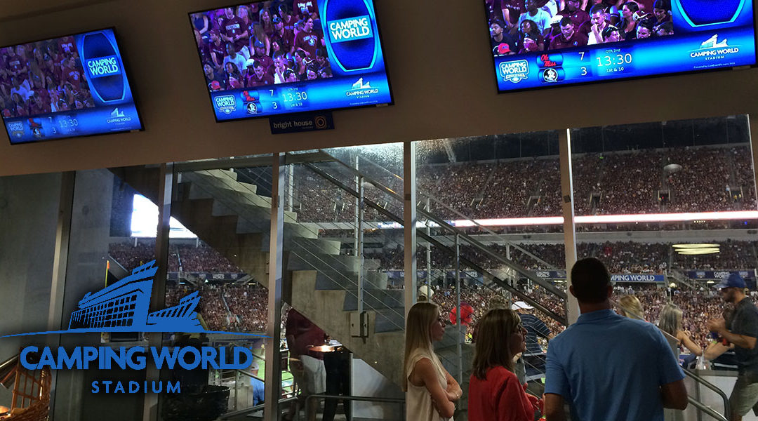 Improving Fan Engagement & Monetizing Stadium TVs | Camping World Stadium